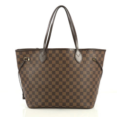 Louis Vuitton Neverfull NM Tote Damier MM Brown 437552