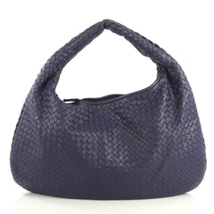 Bottega Veneta Veneta Hobo Intrecciato Nappa Large Blue 43761103