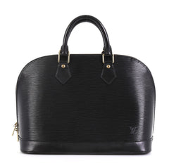 Louis Vuitton Vintage Alma Handbag Epi Leather PM Black 43761109