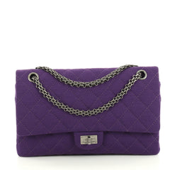 Chanel Reissue 2.55 Flap Bag Quilted Jersey 226 Purple 43761115