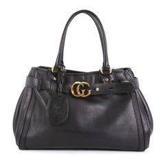Gucci GG Running Tote Leather Medium Black 43761127