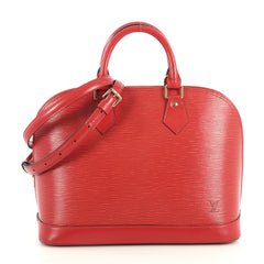 Louis Vuitton Vintage Alma Handbag Epi Leather PM Red 43761143