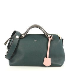 Fendi By The Way Satchel Calfskin Small Green 43761168