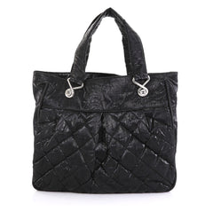 Chanel Le Marais Tote Quilted Coated Canvas Large Black 43761179