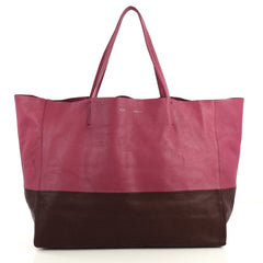 Celine Horizontal Bi-Cabas Tote Leather Large Purple 4376118