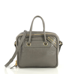 Balenciaga Blanket Square Bag Leather Small Gray 4376123