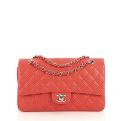 Chanel Classic Single Flap Bag Quilted Perforated Leather Medium