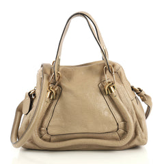 Chloe Paraty Top Handle Bag Leather Small Neutral 4376130