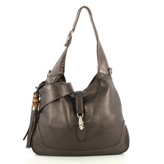 Gucci New Jackie Bag Leather Medium Brown 4376145