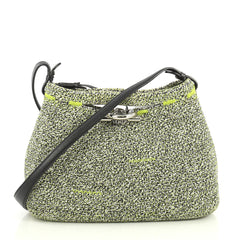 Balenciaga Zigzagger Bag Woven Fabric Medium Green 4376153