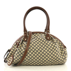 Gucci Sukey Boston Bag Diamante Canvas Brown 4376187