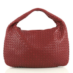 Bottega Veneta Veneta Hobo Intrecciato Nappa Medium Red 4376189