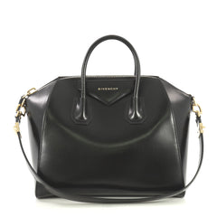 Givenchy Antigona Bag Glazed Leather Medium Black 4377101