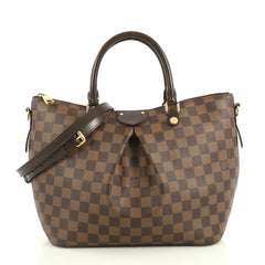 Louis Vuitton Siena Handbag Damier MM Brown 4377102