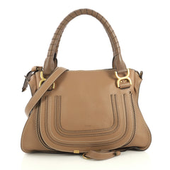 Chloe Marcie Satchel Leather Medium Brown 437811