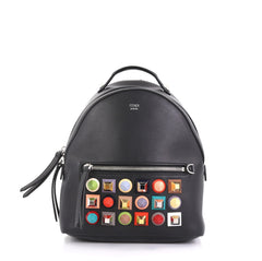 Fendi By The Way Backpack Studded Leather Mini Black 4378814