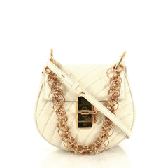 Chloe Drew Bijou Crossbody Bag Quilted Leather Mini White 4379011