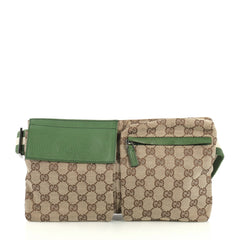 Gucci Vintage Double Belt Bag GG Canvas Brown 437921