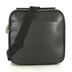Louis Vuitton Tura Messenger Bag Taiga Leather Black 4382821