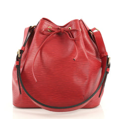 Louis Vuitton Petit Noe Handbag Epi Leather Red 4382822