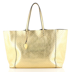 Bottega Veneta Intrecciomirage Tote Leather Large Metallic 4383012