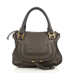 Chloe Marcie Shoulder Bag Leather Medium Brown 438456
