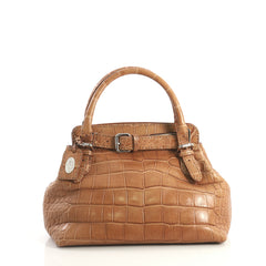 Fendi Selleria Villa Borghese Tote Alligator Small Brown 438491
