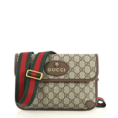 Gucci Animalier Flap Belt Bag GG Coated Canvas Brown 438521