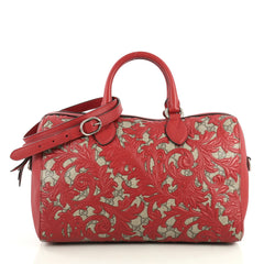 Gucci Convertible Boston Bag Arabesque GG Coated Canvas Medium Red 438541