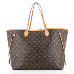 Louis Vuitton Neverfull NM Tote Monogram Canvas GM Brown 438632