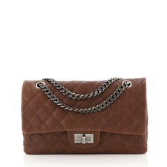 Chanel Reissue 2.55 Flap Bag Quilted Caviar 225 Brown 438671