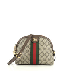Gucci Ophidia Dome Shoulder Bag GG Coated Canvas Small Brown 438791