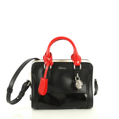 Alexander McQueen Padlock Zip Around Tote Leather Mini Black 439151