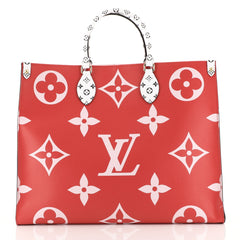 Louis Vuitton OnTheGo Tote Limited Edition Colored Monogram Giant  Red 439241