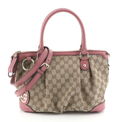 Gucci Sukey Top Handle Satchel GG Canvas Medium