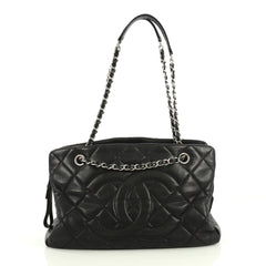 Chanel Timeless Classic Shopping Tote Quilted Caviar Large Black 4393015