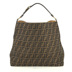 Fendi Buckle Strap Hobo Zucca Canvas Large Brown 439323