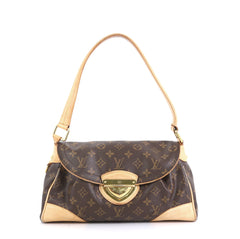 Louis Vuitton Beverly Handbag Monogram Canvas MM Brown 439571