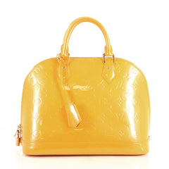 Louis Vuitton Alma Handbag Monogram Vernis PM Yellow 439601