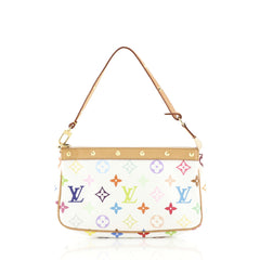 Louis Vuitton Pochette Accessoires Monogram Multicolor White 439761