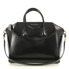 Givenchy Antigona Bag Glazed Leather Medium Black 439981
