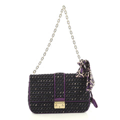 Christian Dior Miss Dior Flap Bag Tweed Medium Black 4401311