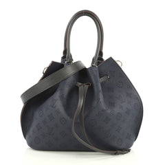 Louis Vuitton Girolata Handbag Mahina Leather Blue 4401318
