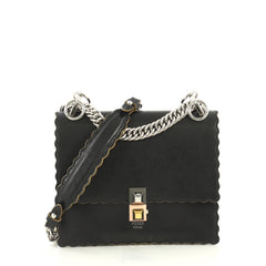 Fendi Kan I Bag Leather Small Black 4401325