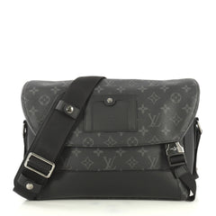 Louis Vuitton Voyager Messenger Bag Monogram Eclipse Canvas PM Black 4401342