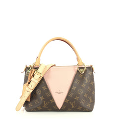 Louis Vuitton V Tote Monogram Canvas and Leather BB Brown 440136