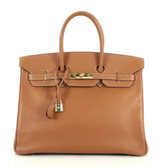 Hermes Birkin Handbag Brown Epsom with Gold Hardware 35 Brown 4401370