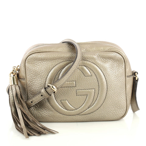 7d7e584fe Gucci Soho Disco Crossbody Bag Leather Small Gold 4401385 – Rebag
