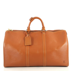 Louis Vuitton Keepall Bag Epi Leather 50 Brown 4401386