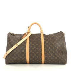 Louis Vuitton Keepall Bandouliere Bag Monogram Canvas 60 Brown 4401396